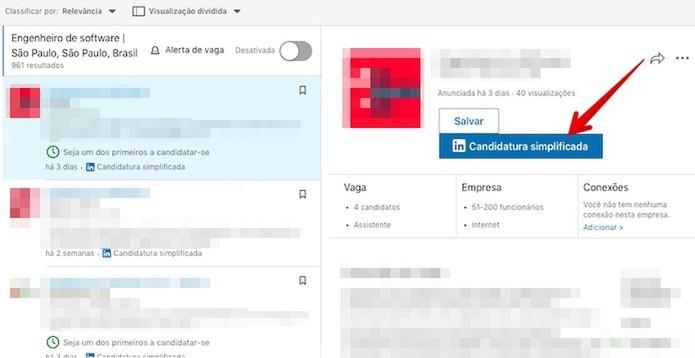 Candidate-se a uma vaga pelo LinkedIn (Foto: Reprodução/Helito Bijora)