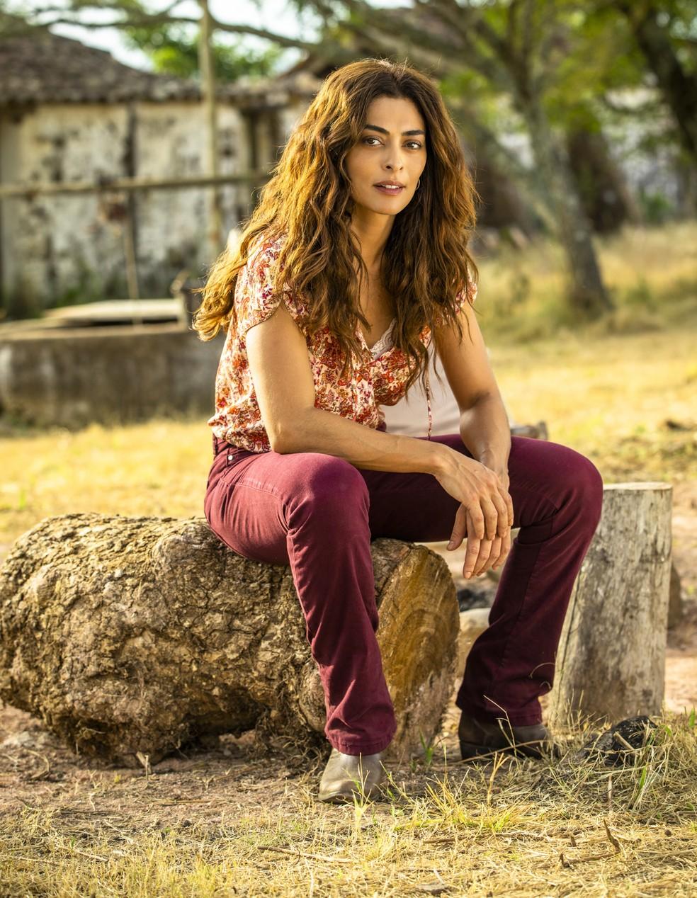 Em 'A Dona do Pedaço', Juliana Paes interpreta a protagonista Maria da Paz — Foto: TV Globo/João Miguel Jr.