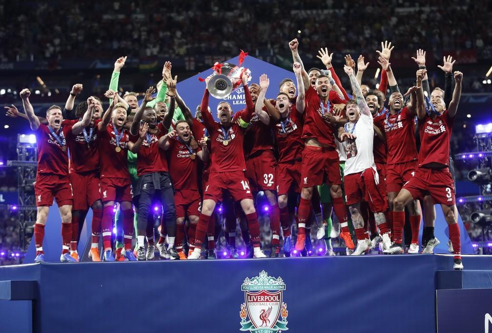 Título da Liga dos Campeões ajudou Liverpool a crescer 17% e quebrar barreira dos € 600 milhões — Foto: Carl Recine/Reuters