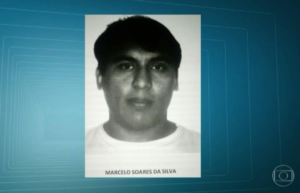 Sargento Marcelo Soares não prestou socorro (Foto: Reprodução/TV Globo)