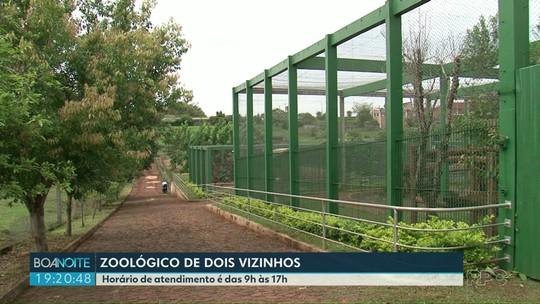Zoológico de Dois Vizinhos é inaugurado no sudoeste do estado