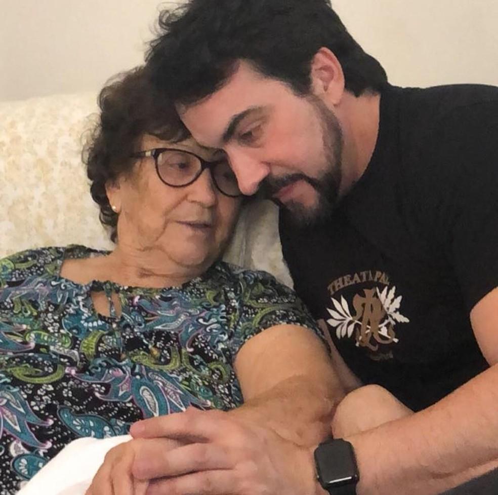 Ana Maria de Melo e padre Fábio de Melo — Foto: Rede Social/Reprodução