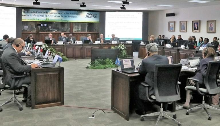 Reunião do IICA na embaixada brasileira em São José, na Costa Rica (Foto: Ministério da Agricultura)