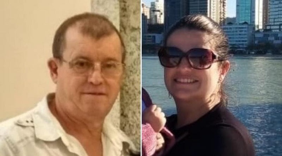 Pai e filha morreram após o acidente na BR-470 em Ilhota — Foto: Reprodução/ NSC