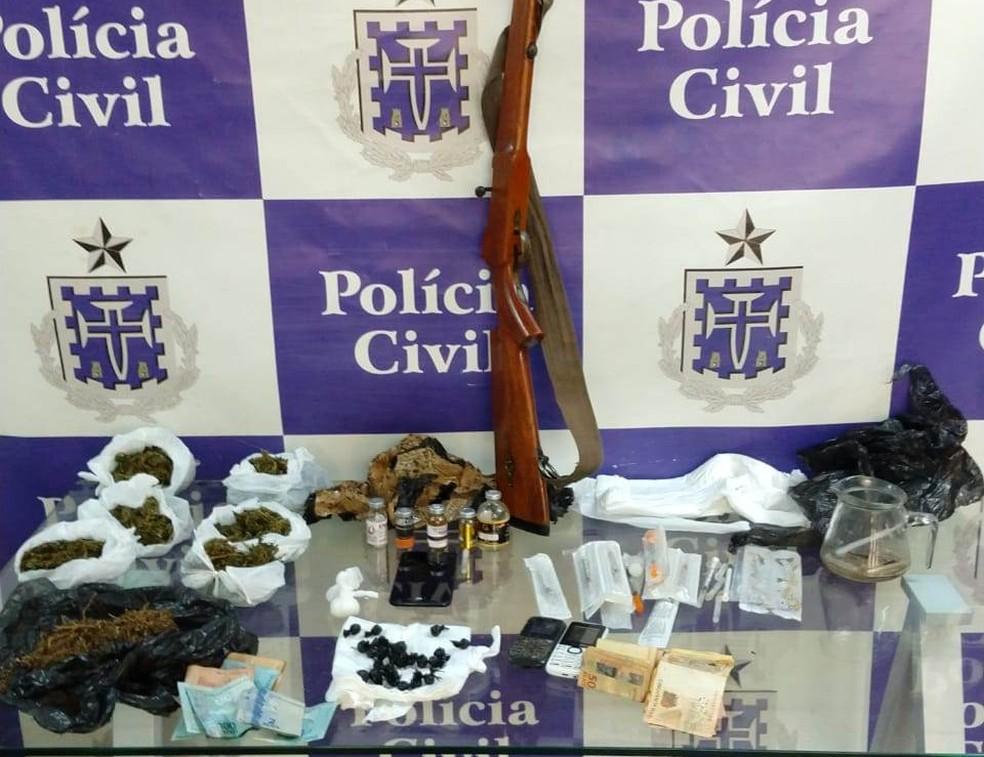 Falso professor de Educação Física é preso com drogas e anabolizantes em academia no norte da Bahia â?? Foto: Divulgação/Polícia Civil