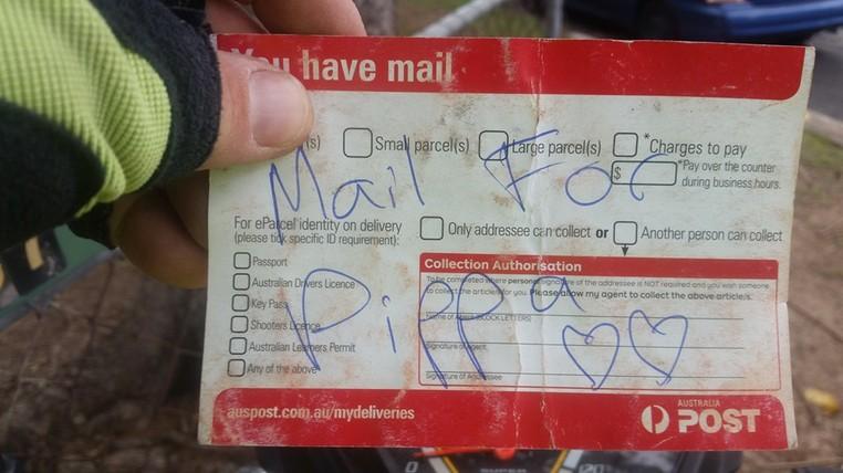A carta para Pippa (Foto: Martin Studer/Facebook)