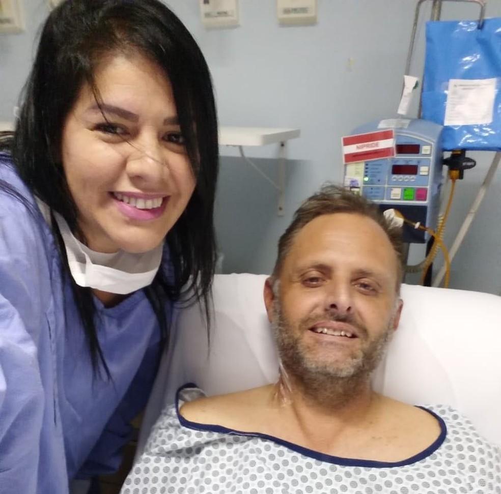 Beth doou um rim para o ex-marido Claus, em Londrina — Foto: Arquivo pessoal