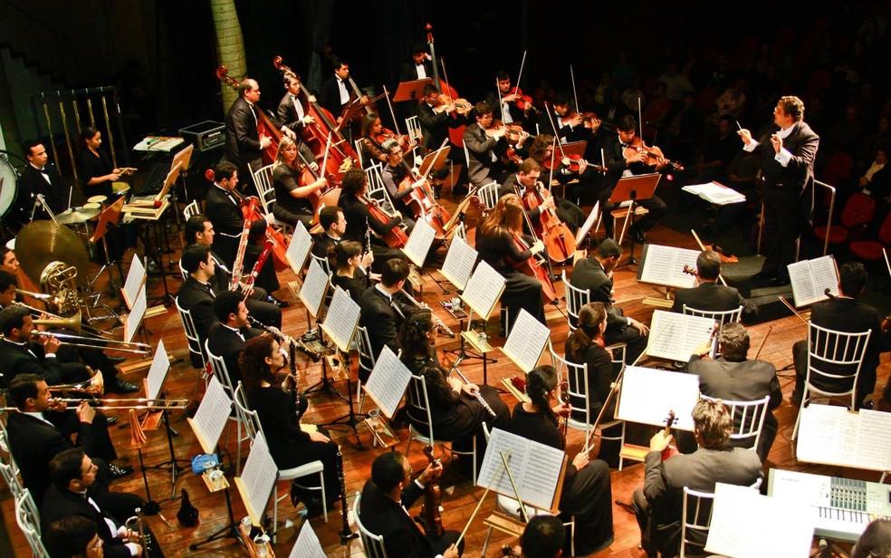 Orquestra Filarmônica de Goiás se apresenta no Teatro Sesc — Foto: Site OFG/Divulgação