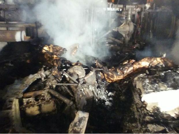 Aeronave caiu em cima de barracão de transportadora e explodiu (Foto: Sérgio Pupo Silva/Arquivo pessoal )