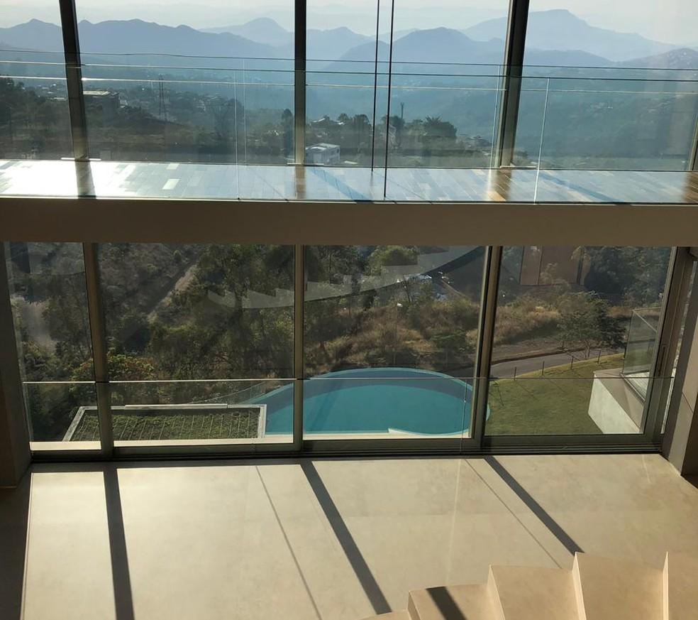 Operação Demerara: mansão em Nova Lima foi construída com recursos obtidos com a sonegação fiscal, diz MP — Foto: MPMG/Divulgação
