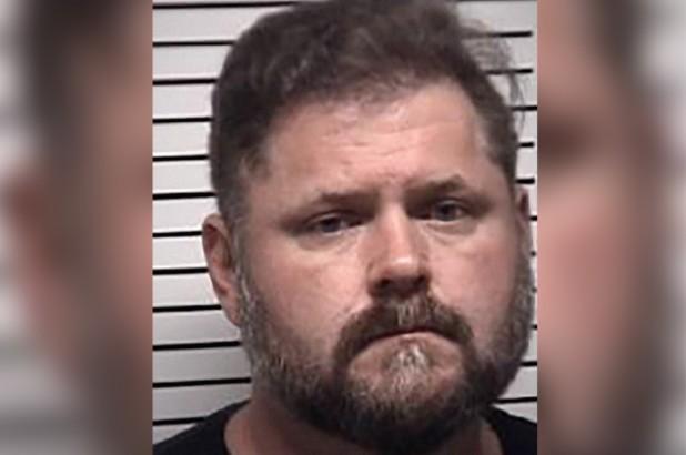 Justin Neal French, o parente preso depois de oferecer brownie com maconha a crianças (Foto: Divulgação Polícia de Iredell)