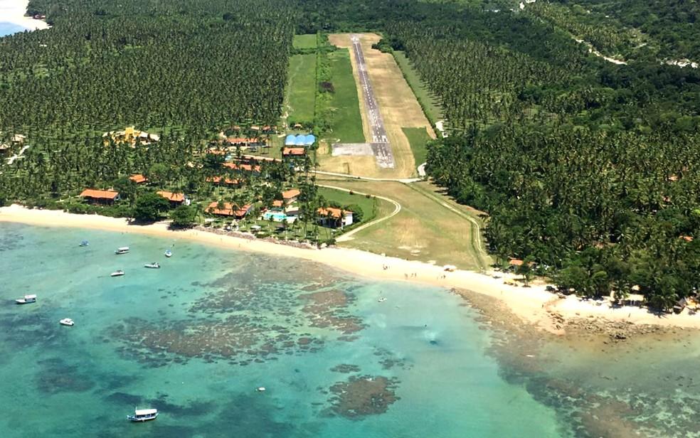 Imagem aérea da fazenda caeira, na Quarta Praia, onde será realizada a San Island Wekeend, em Morro de São Paulo. (Foto: Divulgação)