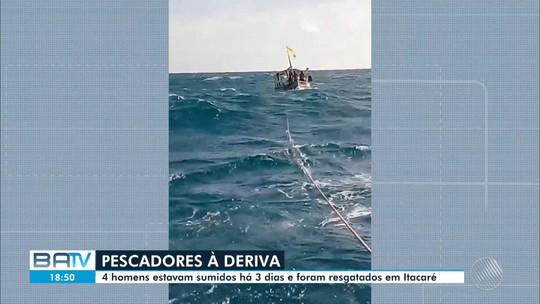 Pescadores desaparecidos desde domingo (7) no mar de Ilhéus são resgatados em Itacaré
