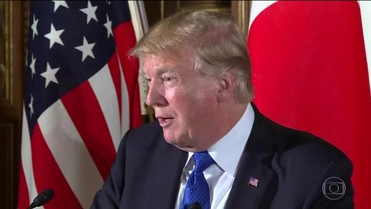 Trump diz a empresários japoneses que comércio com Japão 'não é justo'