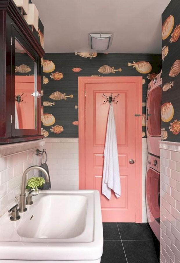 Décor do dia: banheiro com papel de parede (Foto: Reprodução/Divulgação)