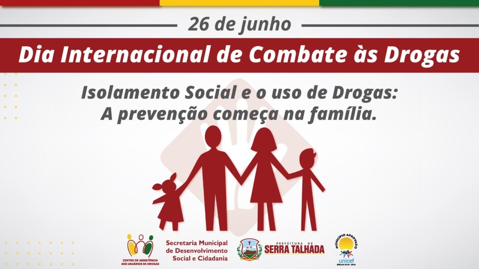 CAUD realiza campanha de prevenção contra o uso de drogas durante isolamento em Serra Talhada