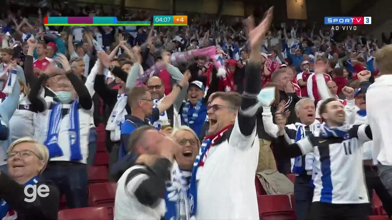 Melhores momentos de Dinamarca 0 x 1 Finlândia, pela primeira rodada da Eurocopa