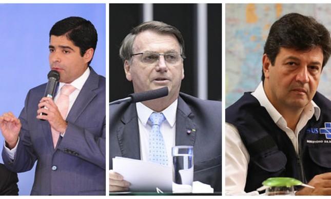ACM Neto, Jair Bolsonaro e Mandetta