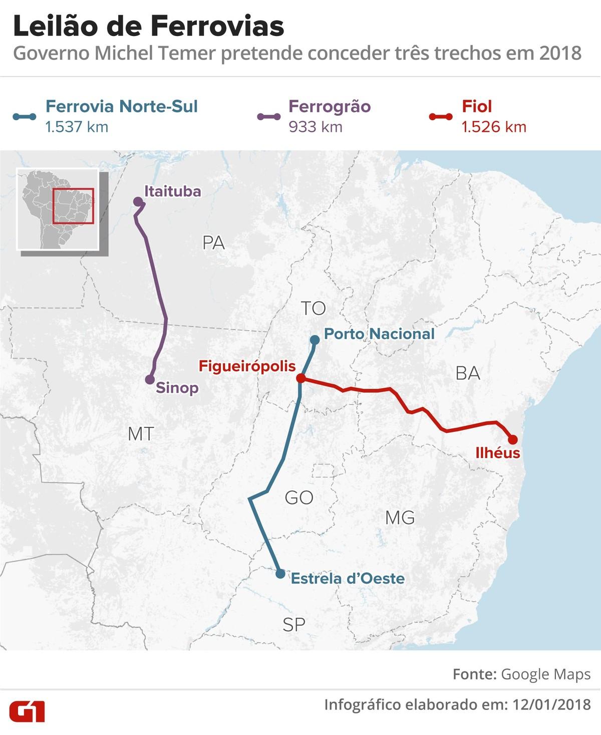 Incerteza motivada pela eleição deve adiar leilões de ferrovias para 2019,  dizem especialistas   Economia   G1 a4d22b4b68