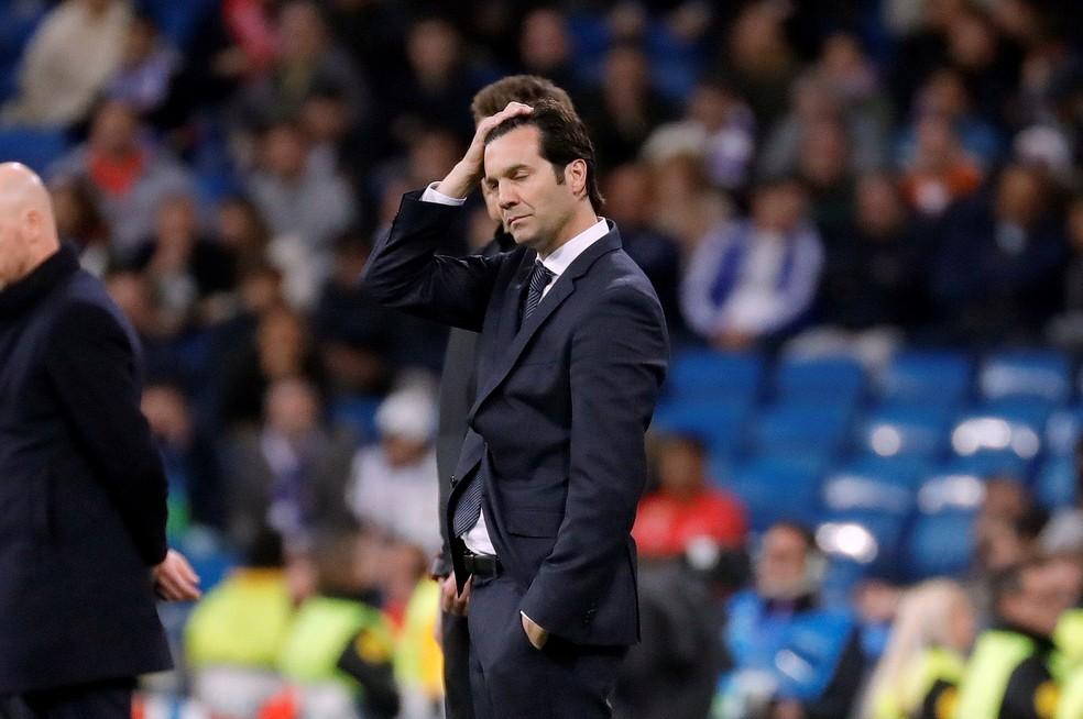Santiago Solari caiu após eliminação do Real Madrid diante do Ajax — Foto: Efe