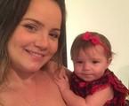 Tatyane Goulart com a filha | Reprodução