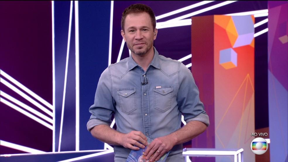 Tiago Leifert no BBB21  — Foto: TV Globo