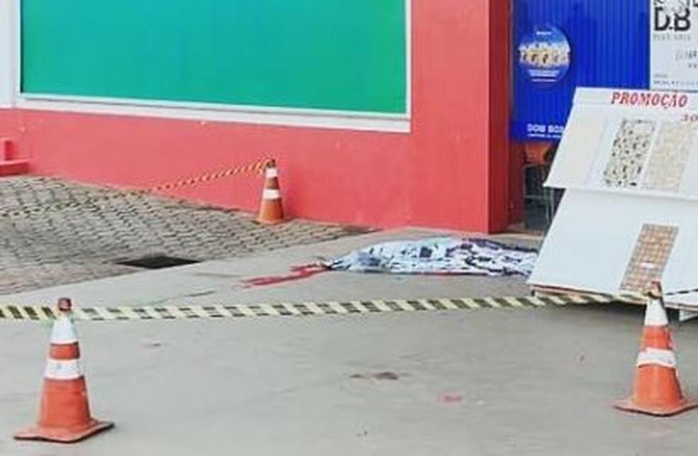 Local onde venezuelano em situação foi morto em Ouro Preto do Oeste, RO — Foto: Polícia Civil/Divulgação
