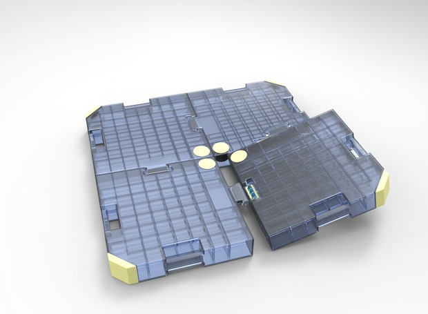 Dispositivo criado para economizar água durante o banho (Foto: IgenDesign / Reprodução)