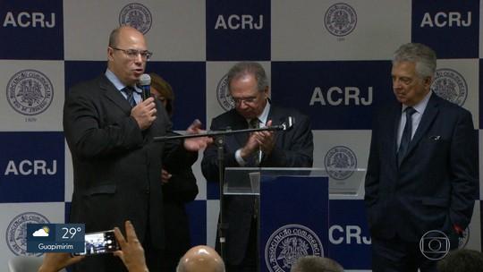 Em evento com Paulo Guedes, Wilson Witzel comenta privatização da Cedae