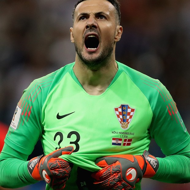 Subasic, o herói 'sérvio' que defende a pátria croata (Foto: Francois Nel / Getty Images)