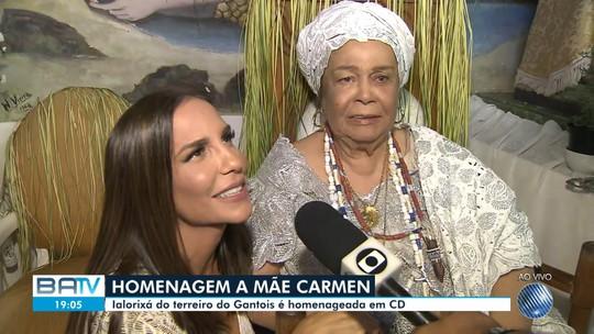Ivete, Gil, Daniela e Lazzo Matumbi vão a lançamento de álbum em homenagem a Mãe Carmen: 'Interpretação do amor'