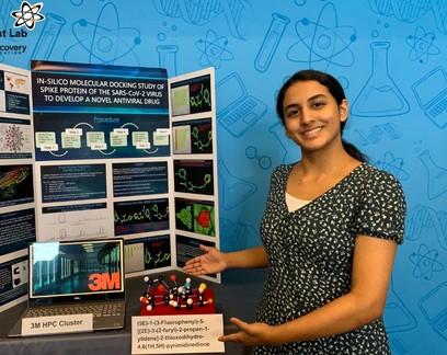 Garota de 14 anos encontra molécula que impede infecção por Sars-CoV-2