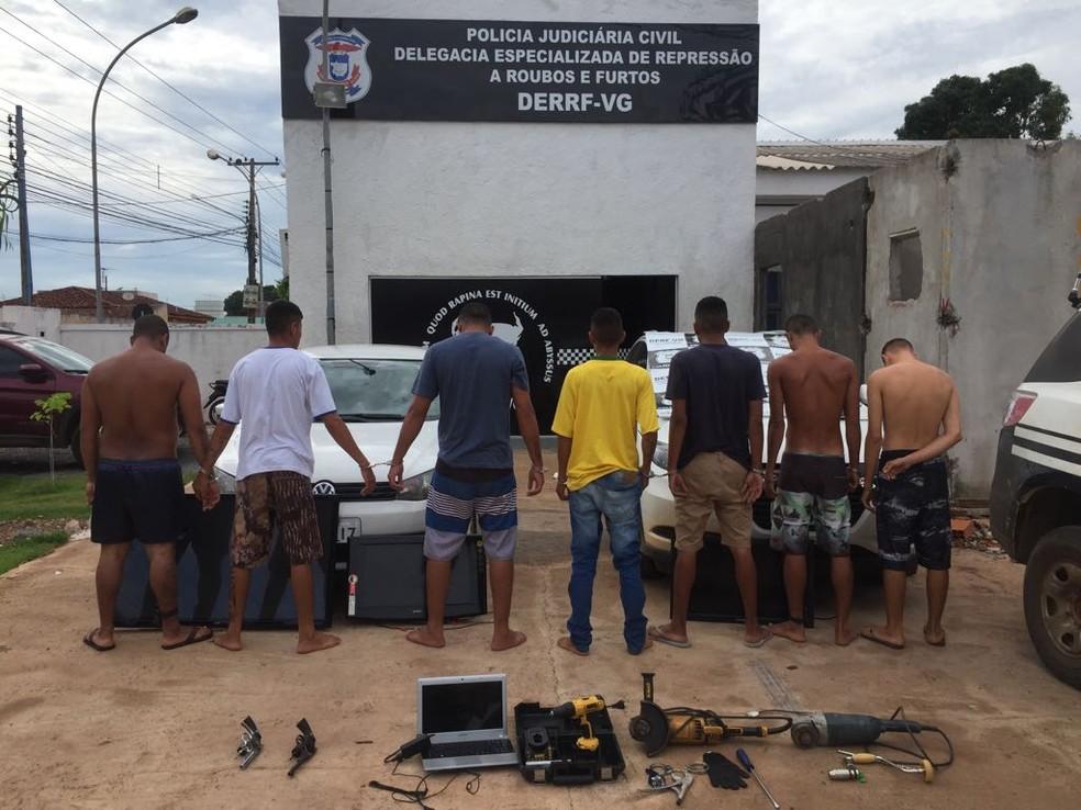 Todos os suspeitos têm antecedentes criminais, segundo a Polícia Civil (Foto: Polícia Civil de Mato Grosso/Assessoria)