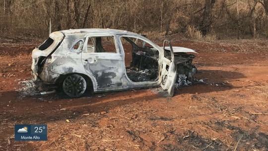 Polícia encontra carcaça de carro e acredita ter sido usado na explosão do carro-forte em Sales Oliveira