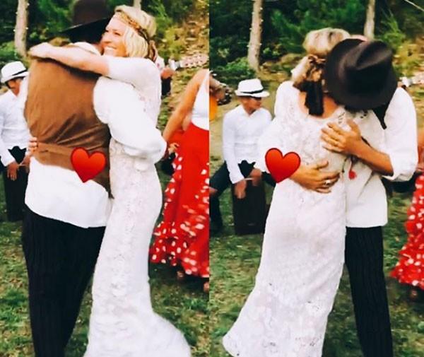 Robin Wright, conhecida pela série 'House of Cards', se casou com o magnata francês Clement Giraudet (Foto: Reprodução/Instagram)