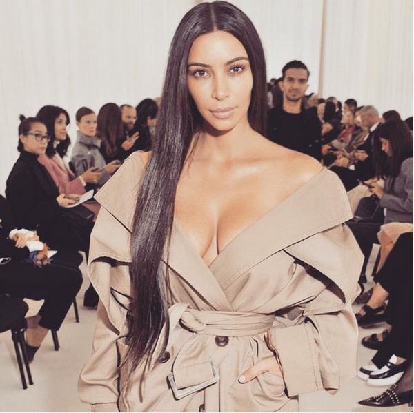 Kim Kardashian antes de seu assalto em Paris (Foto: Instagram)