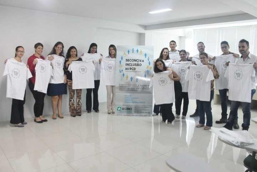 Projeto promove inclusão de PCD no mercado de trabalho em Goiás — Foto: Divulgação/Seconci