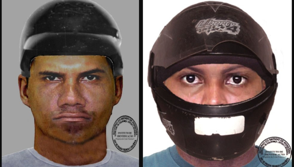 Polícia Civil divulgou retrato falado de suspeito de atacar mulheres em Monte Negro, RO — Foto: Polícia Civil/Divulgação