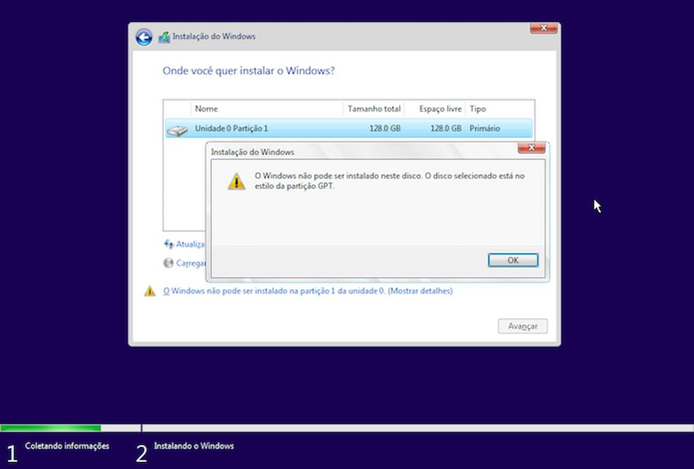 Windows não pode ser instalado em partição GPT? Saiba resolver