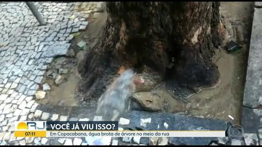 Vazamento preocupa moradores em Copacabana