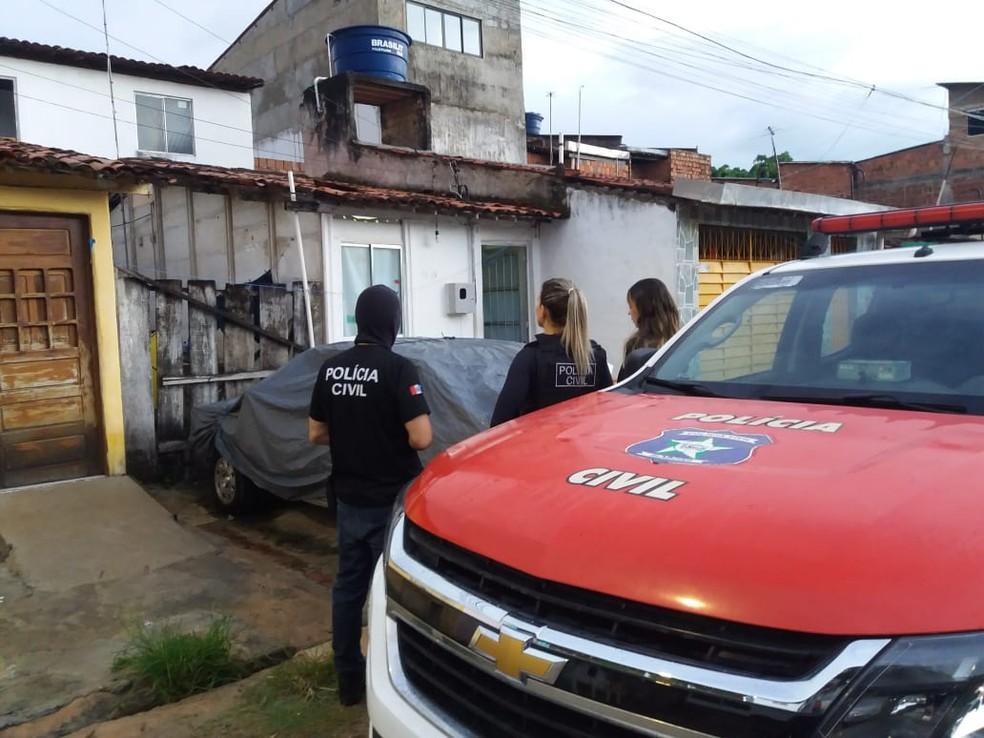 Polícia Civil prendeu o suspeito de ser estuprador em série em Maceió — Foto: Heliana Gonçalves/TV Gazeta