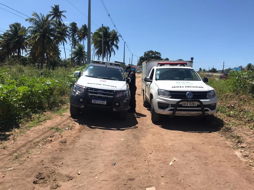 Corpo de bebê foi encontrado dentro de uma mochila em São José do Mipibú — Foto: Ayrton Freire/Inter TV Cabugi