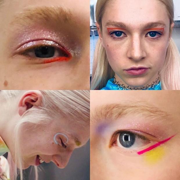 Detalhes das maquiagens usadas por Jules na série (Foto: Reprodução/Instagram)