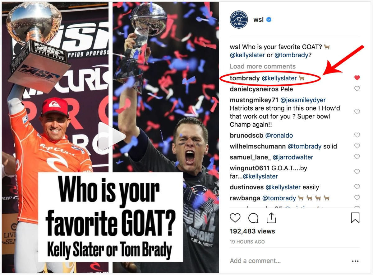 Kelly Slater ou Tom Brady?