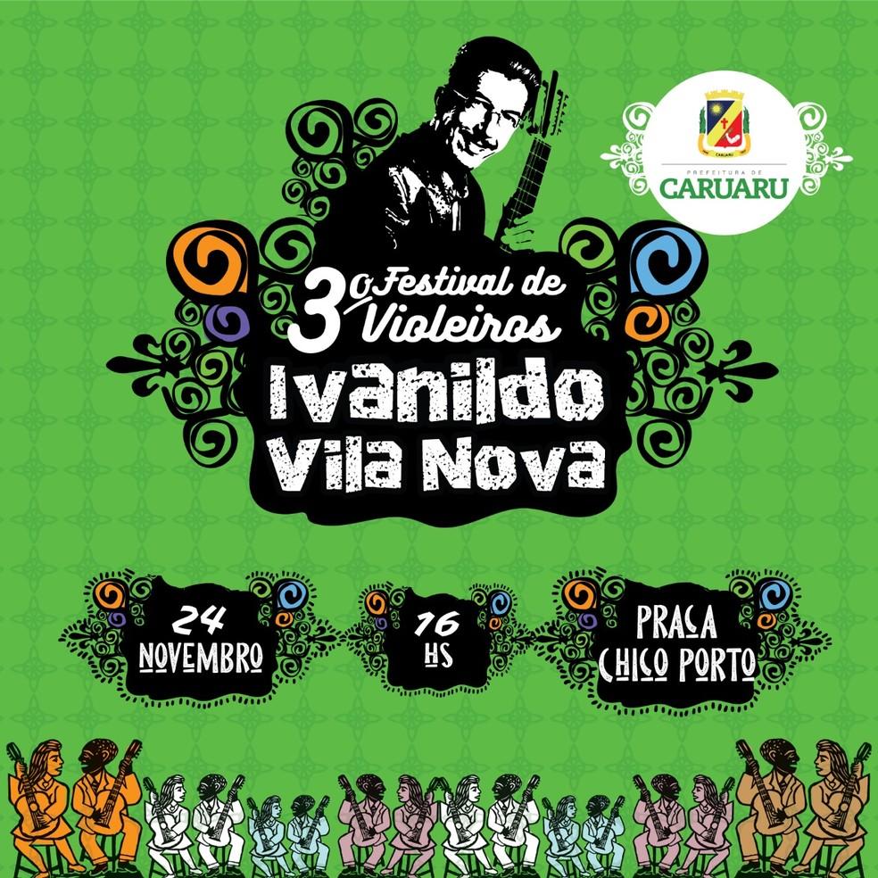 3º Festival de Violeiros Ivanildo Vila Nova — Foto: Prefeitura de Caruaru/Divulgação