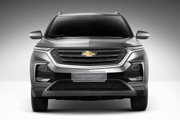 Novo Chevrolet Captiva tem dianteira que lembra um pouco a do Blazer (Foto: Divulgação)