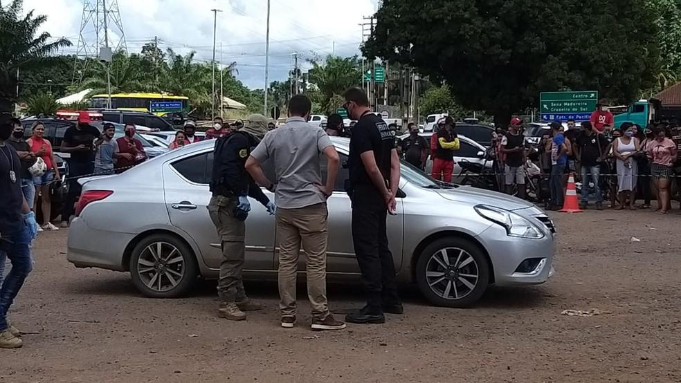 Gedeon Barros foi morto dentro do carro em Rio Branco no dia 20 de maio — Foto: Eldérico Silva/Rede Amazônica Acre