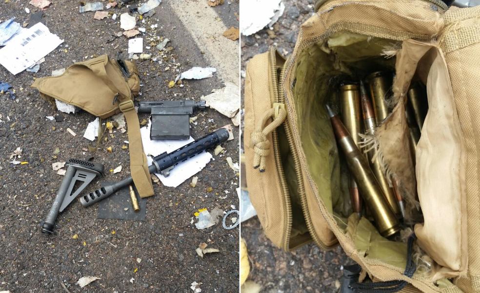 Criminosos deixaram fuzil e munições para trás (Foto: Divulgação)
