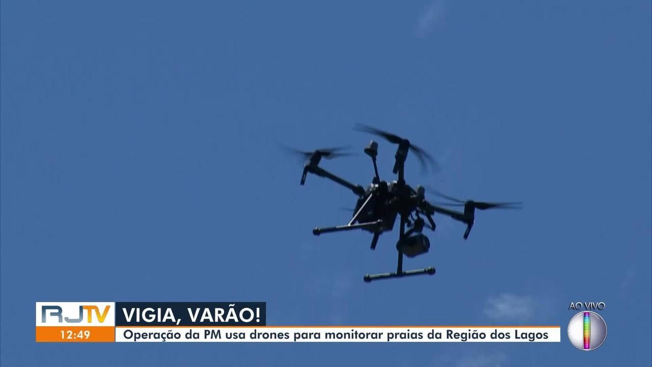 Operação verão da PM usa drones para monitorar praias de Cabo Frio