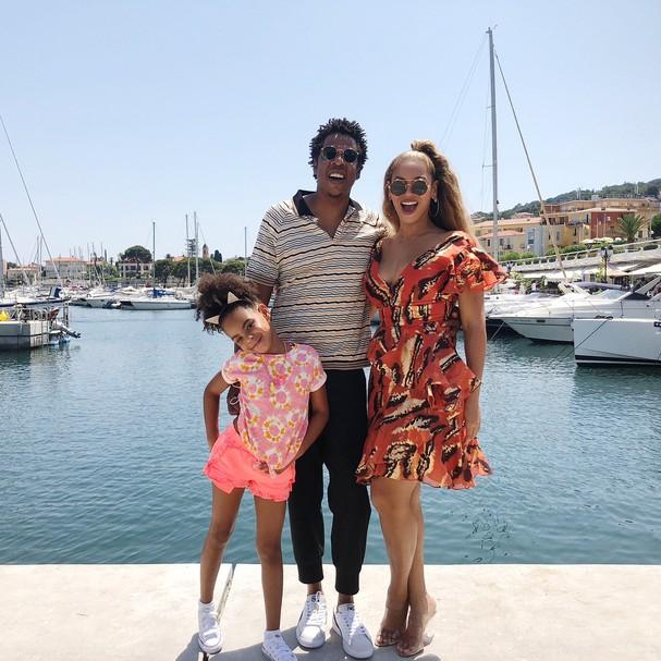 Beyoncé, Jay-Z e Blue Ivy (Foto: Instagram/Reprodução)